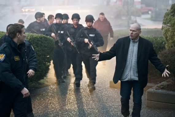 Uwe Boll on set of Capital Punishment