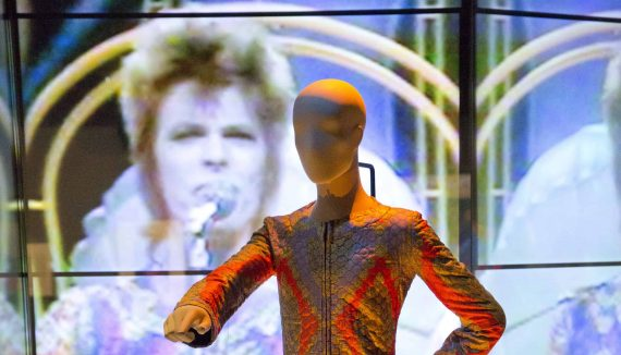 Installation Shot of David Bowie is at the V&A is courtesy David Bowie Archive (c) Victoria and Albert Museum